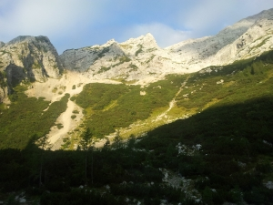 View from starting point in Zadnjica valley